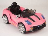 12V Spyder 918 Sports Car With Remote & MP3 In Pink