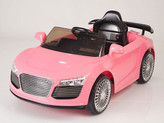 12V Audi R8 Style Ride On Car With Remote & MP3 - Pink
