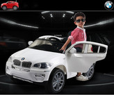 BMW X6 12V Ride On Kids Electric Powered Wheels Car + RC White