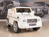 Mercedes G55 AMG 12V Kids Ride On Car w/ Remote, White