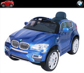 BMW X6 12V Battery Operated Kids Ride On Car + Remote - Blue