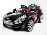 Hot Racer Black #19 Kids Ride On Car + R/C Remote & MP3