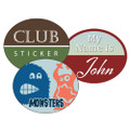 2.5 x 3 Full Color Oval Stickers