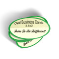 "2"" x 3.5"" 16PT Oval Business Cards with UV on both sides"