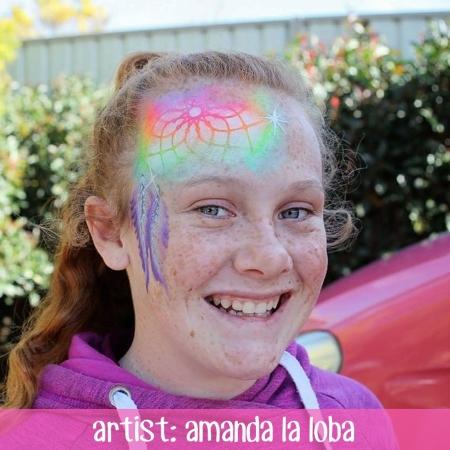 Amanda La Loba Rainbow face paint