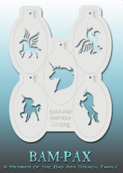 BAM PAX 3004 stencil set of 5 'UNICORN AND PEGASUS'