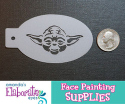 Yoda  - Reusable Face and Body Art Stencil