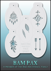 BAM PAX 3022 stencil set of 5 'FREE SPIRIT'