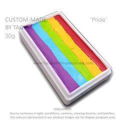 PRIDE one stroke rainbow cake custom made by TAG 30g