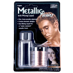 Mehron Metallic Powder COPPER with MIXING LIQUID