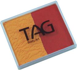 TAG regular 50g split golden orange - red
