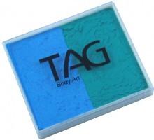 TAG regular 50g split teal - light blue