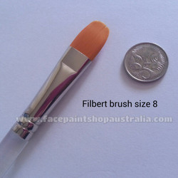 face paint brush filbert size 8 tag