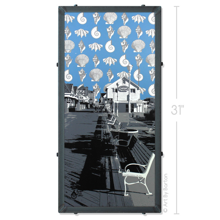 Dumser's Boardwalk Ocean City Silk Screen Print