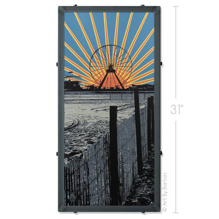 Ferris Wheel Sunset Silk Screen Artwork