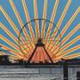 Ferris Wheel Sunset Artwork Detail