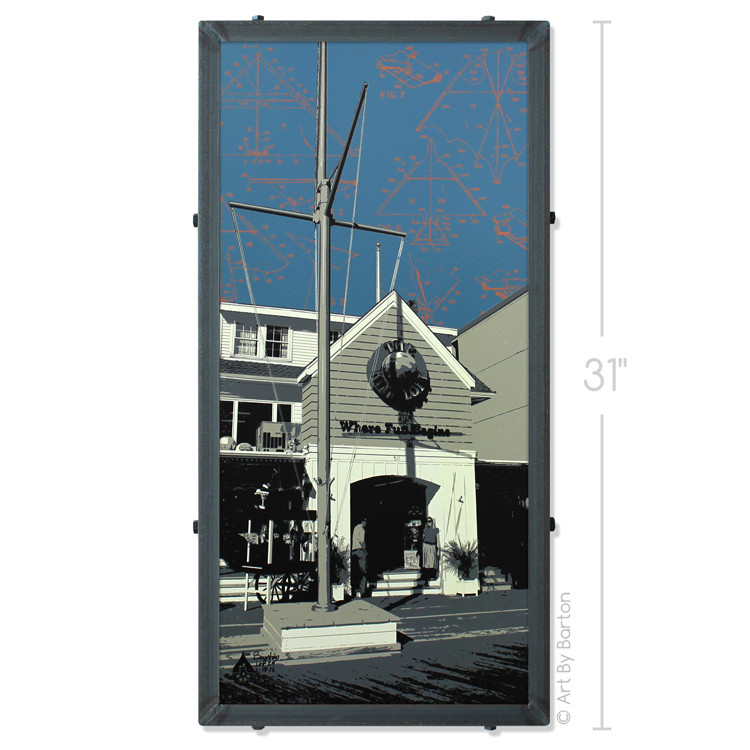 Kite Loft Ocean City Silk Screen Artwork