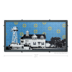 Lifesaving Station Silk Screen Print