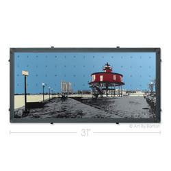 Seven Foot Knoll Lighthouse Silk Screen Artwork