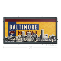 Old Bay Baltimore Skyline Silk Screen Artwork