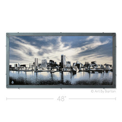 Baltimore Clouds Silk Screen Artwork