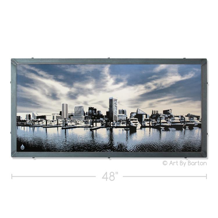 Baltimore Clouds Silk Screen Artwork