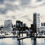Baltimore Clouds Skyline Artwork Detail