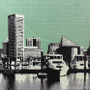 Baltimore Skyline with City Map Artwork Detail