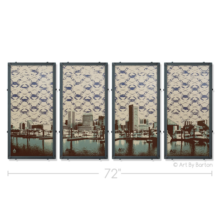 Baltimore Skyline Silk Screen Art