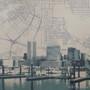 Road To Baltimore Large Silk Screen Print Detail