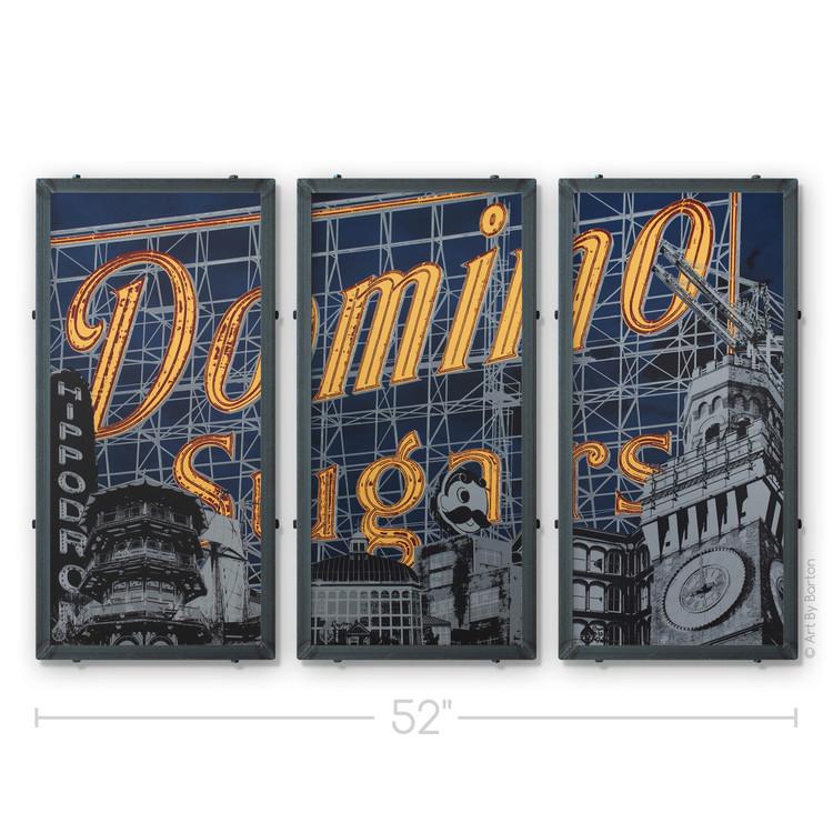 Domino Triptych Silk Screen Print