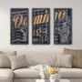 Domino Triptych Baltimore Art