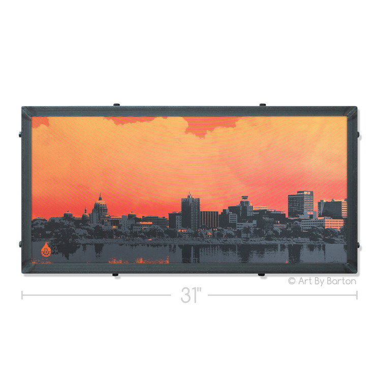 Harrisburg Sunset Art By Barton Silk Screen Art