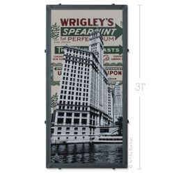Wrigley Building Silk Screen Artwork by Charlie Barton