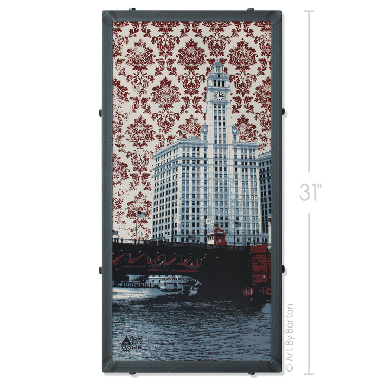 Chicago Wrigley Building Silk Screen Print Artwork