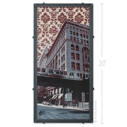 Chicago El Wallpaper Silk Screen Art by Charlie Barton
