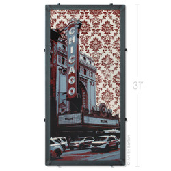 Chicago Theater Wallpaper Silk Screen Print