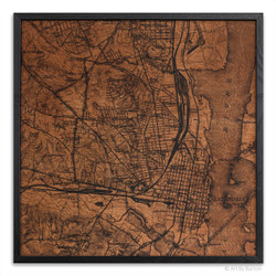Alexandria Map on wood