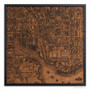 Baltimore city map on wood
