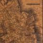 Chicago silkscreen map artwork