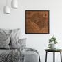 Washington DC large wood map