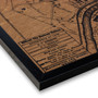 Ellicott City silkscreen map on wood
