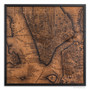 New York city map on wood