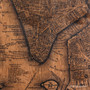 NYC map print on wood