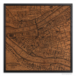 Pittsburgh silk screen map