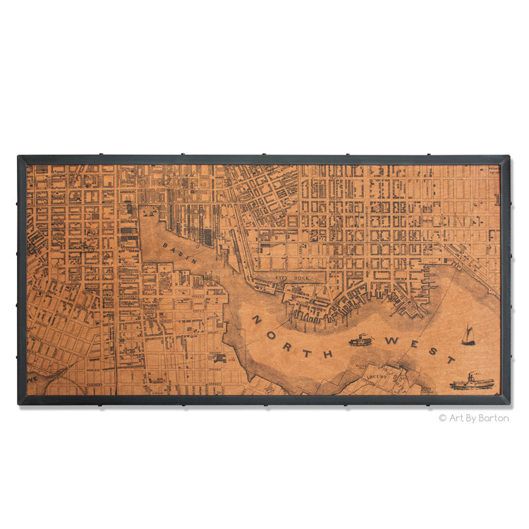 Large Baltimore Map Art by Barton