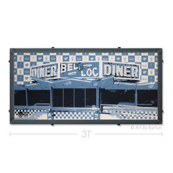 Bel Loc Diner Towson Maryland Silk Screen Print