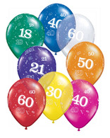 Themed Latex Balloons Number 50