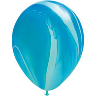 Latex Balloons SuperAgate Blue | Qualatex