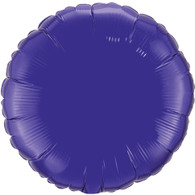Solid Coloured Foil Balloon Perfect Purple Round